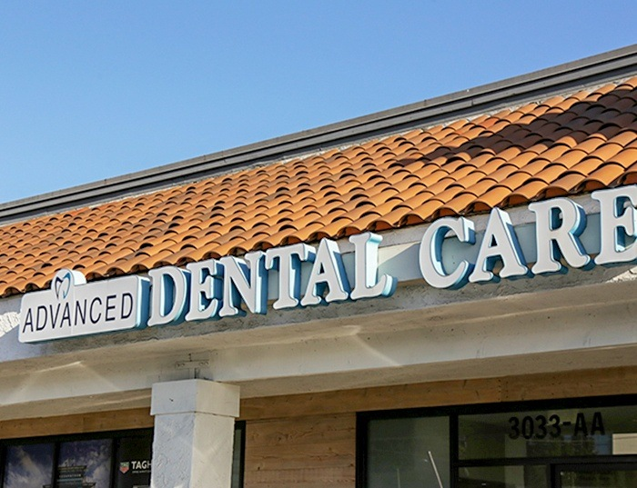 exterior sign sign of Advanced Dental Care