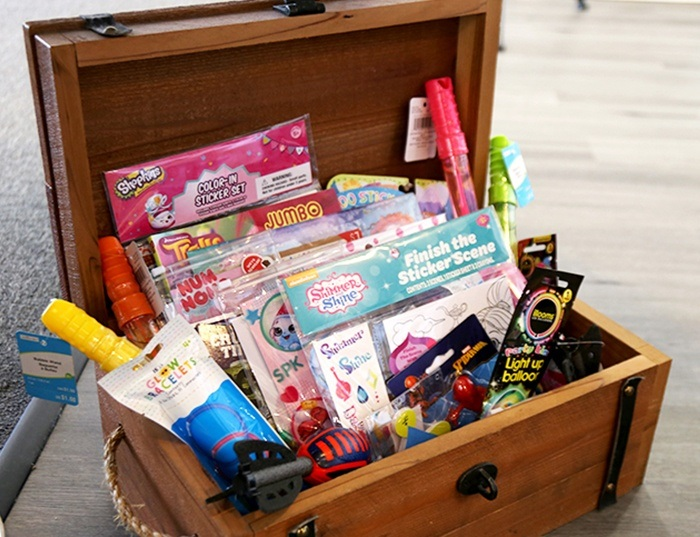 kids treasure chest at Advanced Dental Care