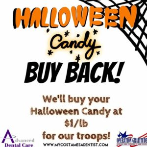 Operation Gratitude - Halloween Candy - Buy - Earn Cash - Win - Oral B - Electric Toothbrush - Best Dentist Costa Mesa - Saturday Dentist - Dentist Open Now - Emergency Dental - PPO Dentist