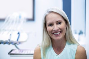Older woman at dentist for Invisalign